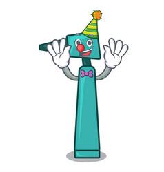 clown otoscope mascot cartoon style vector image