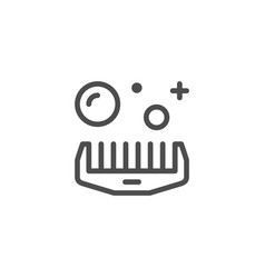 Comb line icon vector