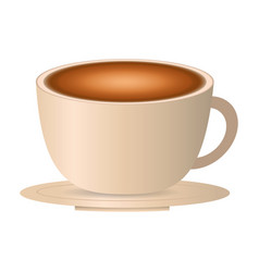 Cup coffee plate breakfast vector