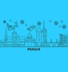 czech republic prague city winter holidays vector image