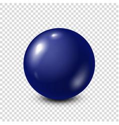 dark blue lottery billiardpool ball snooker vector image
