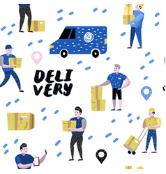 Delivery service cargo industry seamless pattern vector