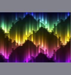 Digital aurora abstract background vector