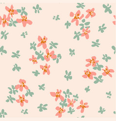 Ditsy darling blooms seamless pattern vector