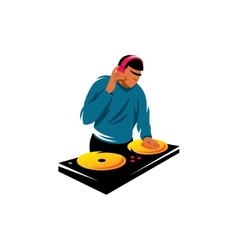 DJ sign vector image