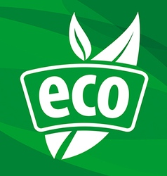 eco logo with floral patterns vector image