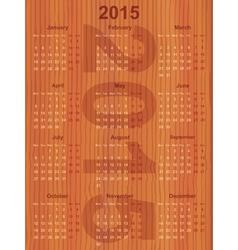 european calendar 2015 vector image vector image