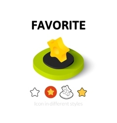 Favorite icon in different style vector