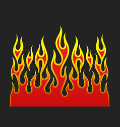 fire flames element vector image