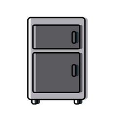 Fridge kitchen appliance vector