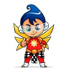 Future puppet boy mascot character vector