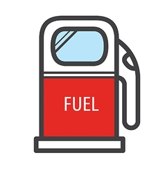 Gas station icon retro style vector