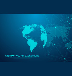 global network connection concept big data vector image