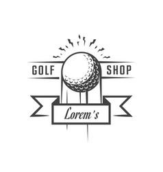 golf rent logotype vector image