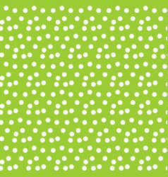 green background random scattered circle dots vector image