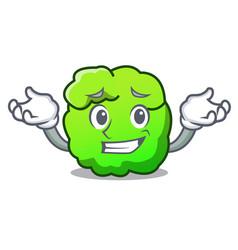 Grinning shrub character cartoon style vector