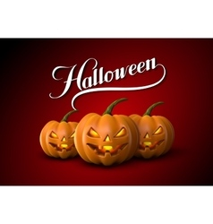 Halloween pumpkin jack lanterns vector
