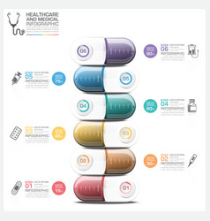 Healthcare And Medical Infographic With Pill vector