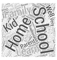 Home schooling and young children word cloud vector