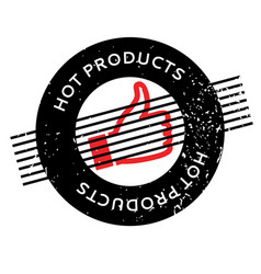 Hot products rubber stamp vector