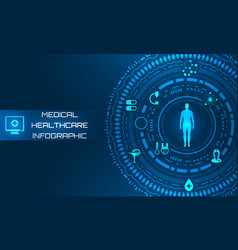 hud interface virtual future system health care vector image