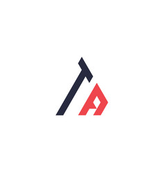 Initial letter triangle logot vector