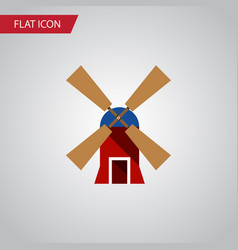 Isolated rural flat icon wind energy vector