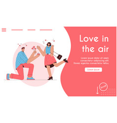 landing page love is in air concept vector image