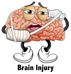 Man brain injury character vector