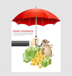 money insurance concept design vector image