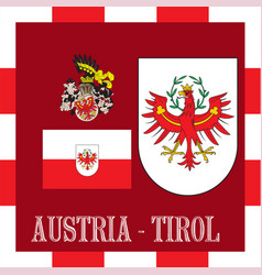 National ensigns of tirol - austria vector
