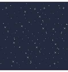 night star sky isolated icon design vector image