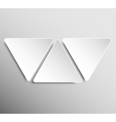 Paper Banner Design Mockup Triangle vector