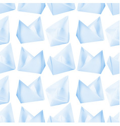Paper boats or paper ships vector