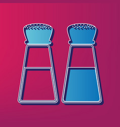 Salt and pepper sign blue 3d printed icon vector