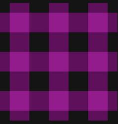 seamless black dark and bright purple tartan vector image