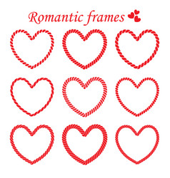 set of romantic twisted frame vector image