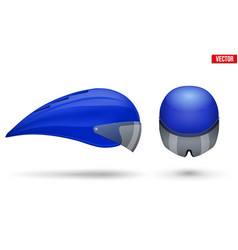 Set of time trial bicycle helmets vector