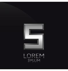 Silver S Letter emblem vector