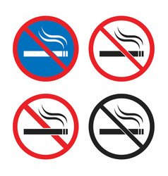 smoking is prohibited icon set no smoking signs vector image