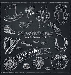 st patrick s day set vector image