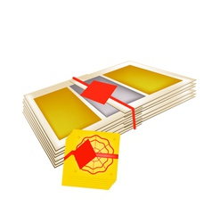 Stack of joss paper for chinese new year vector