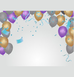 stock confetti isolated on a vector image