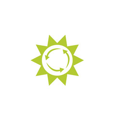Sun eco friendly fill style icon vector