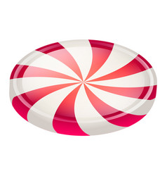 swirl candy icon isometric style vector image