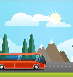 Take Vacation travelling concept Flat design vector image