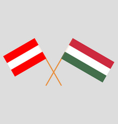 The hungarian and austrian flags vector