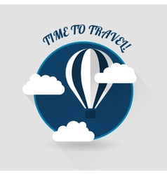 Time to travel modern flat style icon vector