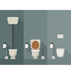 Toilet flat vector