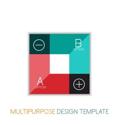 Transparent geometric shaped infographic templates vector